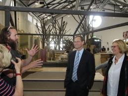 Berlins regierender Bürgermeister Müller als Gast
