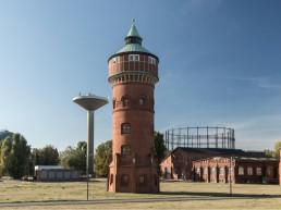 Immobilienprojekt Marienpark Berlin Panoramaaufnahme mit Turm im Zentrum